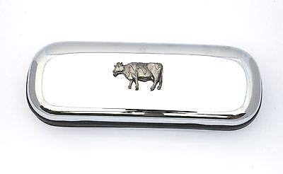 Dairy Cow Style Glasses Spectacle Case Cow Farming Present FREE ENGRAVING