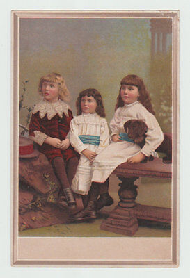 Victorian Trade Card, Portrait of Children, Centennial American Tea Company