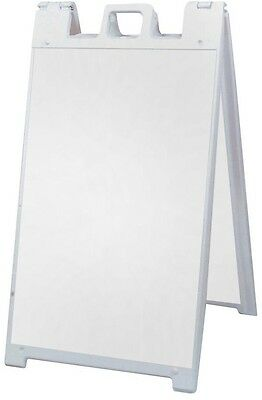 Sign 25 in x 45 in Plastic Easel Shaped Sign Stand A-PS32 Single Double Sided