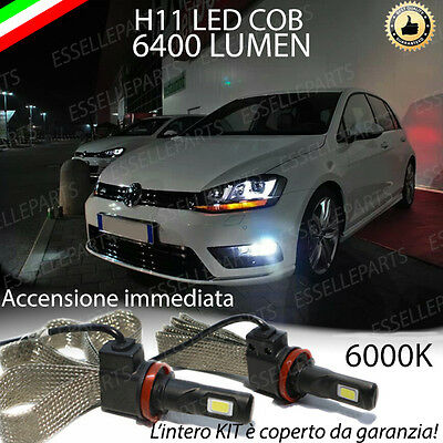 Kit H11 A Led Canbus Per Fendinebbia Volkswagen Golf 7 Canbus 6400 Lumen Canbus