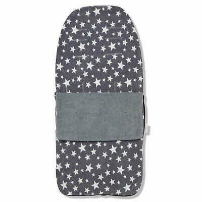 Snuggle Summer Footmuff Compatible With Baby Jogger City Mini GT - Grey Star