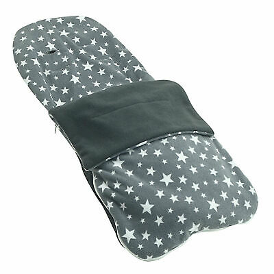 Snuggle Summer Footmuff Compatible With Silver Cross Pop - Grey Star