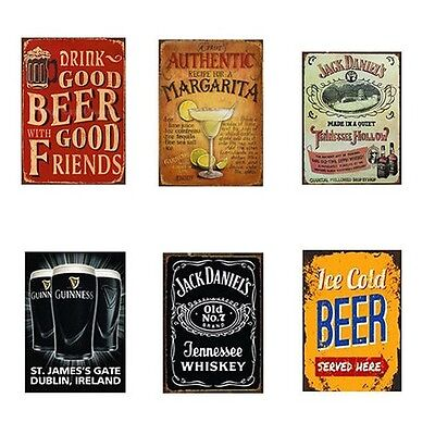 Vintage Decoración Pared Metal Cartel Esmalte Afiche Retro Cerveza Para Bar Pub