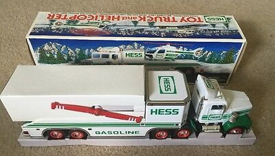 1995 Hess Toy Truck - Toy Truck And Helicopter - New In Box