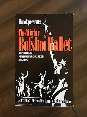 "14"" X 22"" Poster of the ""The Mighty Bolshoi Ballet"""