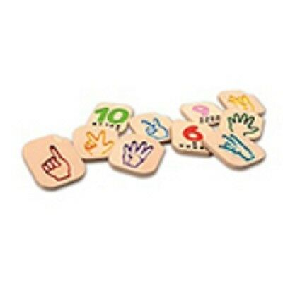 Plan Toys Learning Toys Hand Sign Numbers 1-10 Set - 2+ years