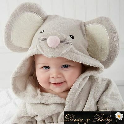 Baby towel bath Hooded dressing gown bath UK infant kids children bedtime beach