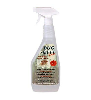 BUG-OFF! Bed Bug & Carpet Moth Spray - Powerful Natural Product - Multi-Mite®