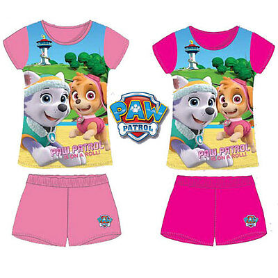 GIRLS PAW PATROL ON A ROLL PYJAMAS SET Brand New Official Licensed