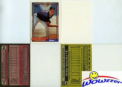 Rare Lot of (3) Different Topps John Smoltz ERROR CARDS from 1987-1992