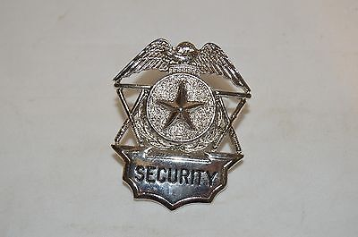 Obsolete Security Officer Guard Badge Hat Device Silver