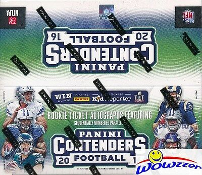 2016 Panini Contenders Football MASSIVE 24 Pack Factory Sealed Retail Box !