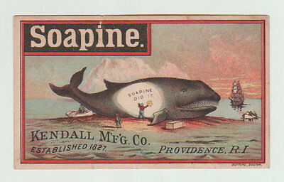 Victorian Trade Card, Soapine, Kendall M'F'G Company