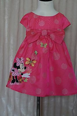 Disney Store Minnie Mouse Fancy Bow Dress Toddler size 2