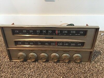 Vintage Antique Tube Radio for Parts Unknown Working Condition Or Manufacturer