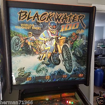 Bally 1988 BlackWater 100 Pinball Game EXCELLENT WORKING CONDITION Lots of LEDs!