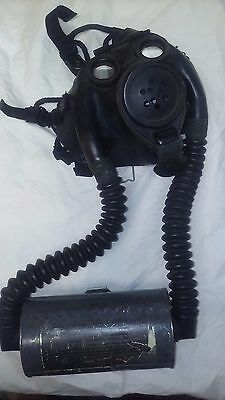 WWII gas mask US Navy vintage military gas mask