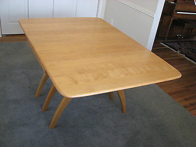 Heywood-Wakefield Butterfly Drop-Leaf Model M 197 G Dining Table with 2 Leaves
