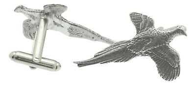 Pheasant Cufflinks Pewter  Made in UK Gift Boxed or Pouched QUANTITY DISCOUNT