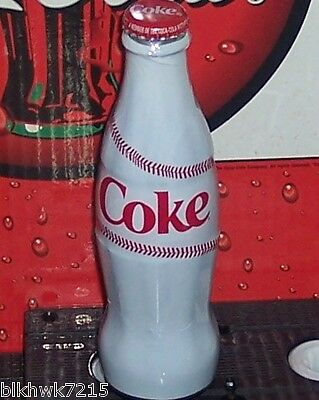 2012 World Of Coca Cola Baseball  8 Ounce Wrapped  Coca - Cola Glass Bottle