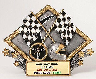 Car Show Or Racing Diamond Plate Resin Plaque Trophy Award Free Engraving Mrdp16