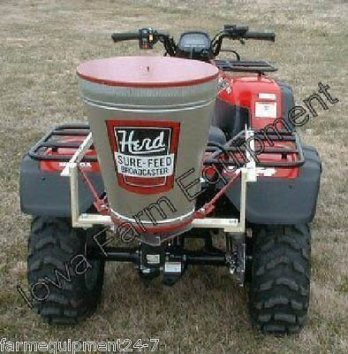 Herd GT77 ATV, 1.2 Bushel Electric ATV Broadcast Seeder, Fertilizer Spreader