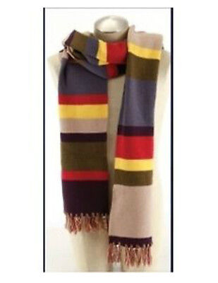 Dr Who Tom Baker 4th Doctor Stripe Scarf 6'6  Official BBC
