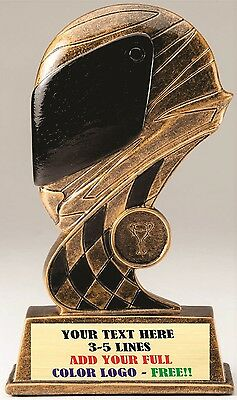 "Three Dimensional Racing Helmet Car Show Trophy 7"" Resin Award Racing M*rf38"