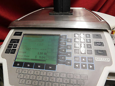 EXCELLENT THROUGHLY CLEANED! Hobart Quantum Max deli Scale Printer 29032-BJ #398