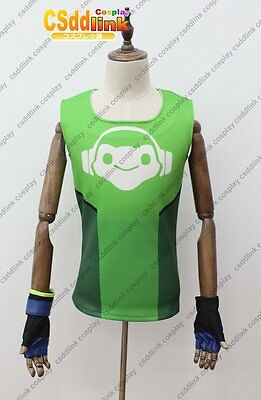 Over OW lucio Cosplay Costume T-Shirt with Gloves green