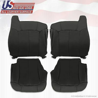 1999 2000 2001 2002 Silverado GMC Sierra Replacement leather seat cover Graphite