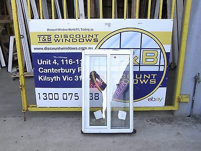 Aluminium Double Glazed Sliding Window 1070H x 650W (Item 2716) Pearl White