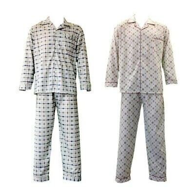 NEW Men's 100% Cotton Light Weight Pajamas Pyjamas PJs Set Two Piece Long Sleeve