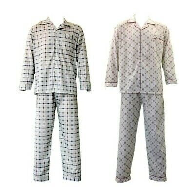 NEW Men's Cotton Light Weight Pajamas Pyjamas PJs Set Two Piece Long Sleeve