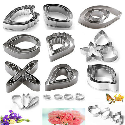 Flower Petal Cookie Cutter Biscuit Pastry Cake Decorating Sugarcrat Moulds Tools