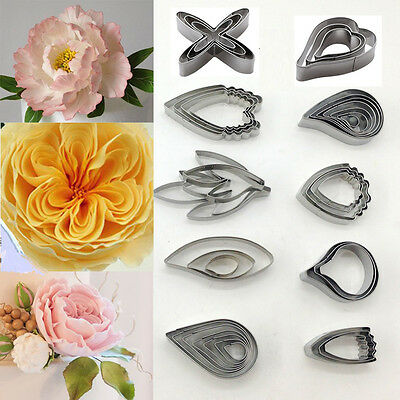 Flower Leaf Stainless Steel Biscuit Cookie Cutter Fondant Cake Decor Mold Tools