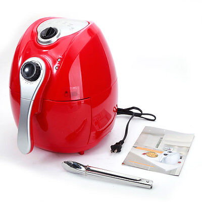 1500w Airfryer Electric System 4.4 qt Deep Air Fryer Temperature Control Red
