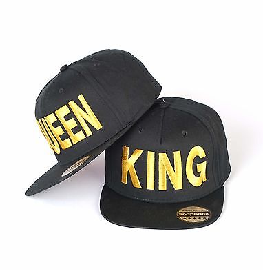 King And Queen Snapback Pair Fashion Embroidered Rapper Caps Hip-Hop Hats