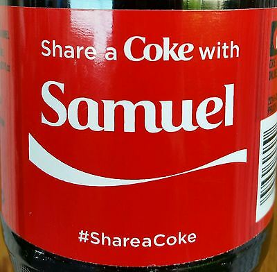 Summer 2015 Share A Coke With Samuel Personalized Coca Cola Collectible Bottle