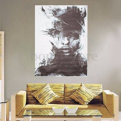 Abstract Vogue Black Modern Art Oil Painting On Canvas Wall Decor No Framed New