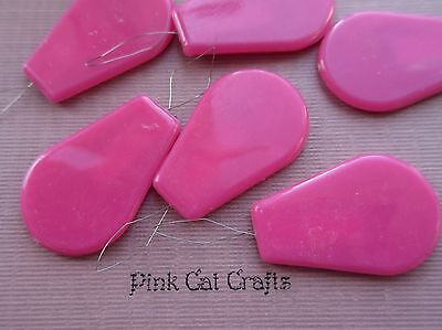 5 Pcs Needle Threader Bow Wired Pink Plastic Sewing Dressmaking Craft
