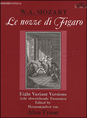 Le Nozze di Figaro Eight Variant Versions Vocal Sheet Music Book Classical Sing