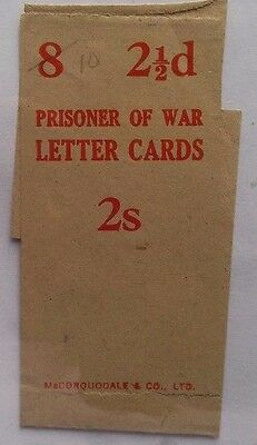 GREAT BRITAIN WORLD WAR 2 McCOQUODALE BAND FROM PRISONER OF WAR LETTER CARDS