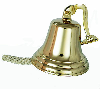 NEW 7 inch Solid Brass Ship Bell/ Last orders/Pub/Wall Mounted/Door /School Bell