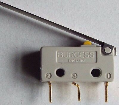 Burgess V4T8Y1PZ-GP Microswitch 5A Lever Action Push Button NEW