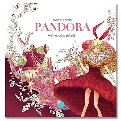 'Pandora' Color Therapy Anti Stress Coloring Books for Adult Relaxation 80 Pages