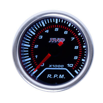 "2"" 52mm 12V 8000 RPM Tacho Tachometer Black Face Red Needle Car Gauge Meter"