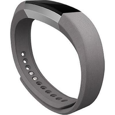 Leather Band for Fitbit Alta (Graphite/Large)