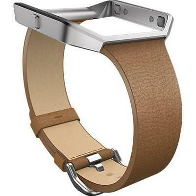 Slim Leather Band + Frame for Fitbit Blaze (Camel/Small)