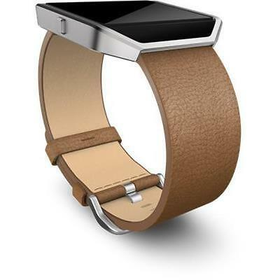 Leather Band + Frame for Fitbit Blaze (Camel/Small)